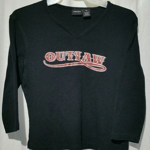 Xhilaration Outlaw jeweled 3/4 sleeve knit top XL